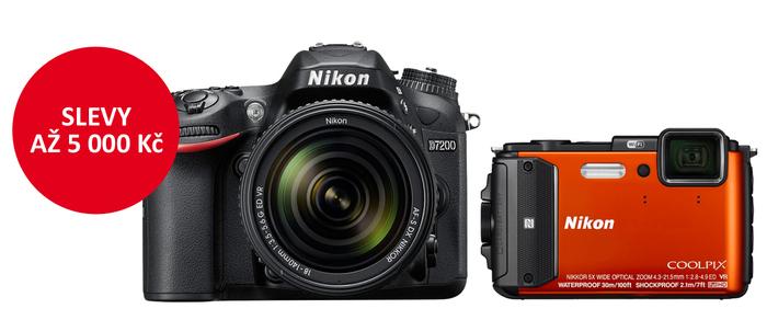 Využijte výrazné slevy na zrcadlovky a kompakty Nikon