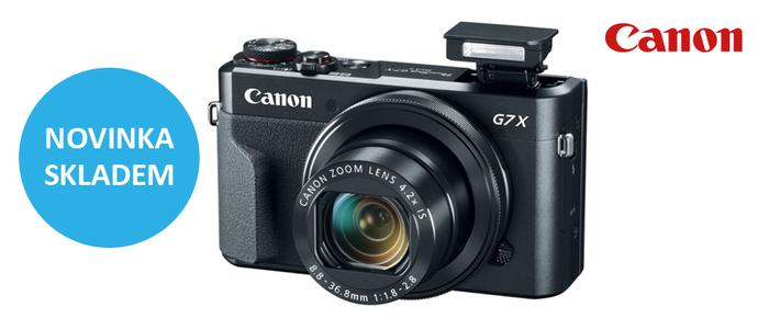 Nový Canon PowerShot G7 X Mark II je ode dneška skladem