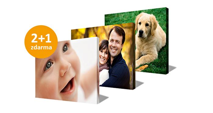 Vytiskněte si vaše nejlepší fotografie na plátno a využijte akci 2+1 zdarma
