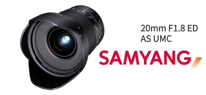 Samyang představuje ultraširokoúhlý fullframe objektiv 20mm f/1.8 ED AS UMC