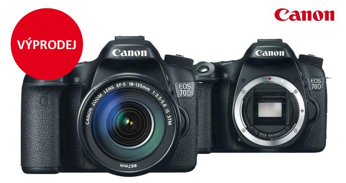 Začal výprodej zrcadlovky Canon EOS 70D
