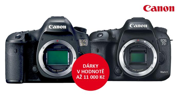 Získejte dárky v hodnotě až 11 000 Kč k vybraným zrcadlovkám Canon
