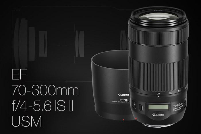 Objektiv s displejem - Canon 70-300mm F/4-5,6 IS II USM - je už skladem