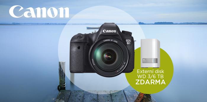 Získejte k nákupu vybraných zrcadlovek Canon externí disk v hodnotě až 10 000 Kč