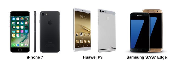 Srovnání nejlepších fotomobilů: iPhone 7, Samsung S7, Huawei P9