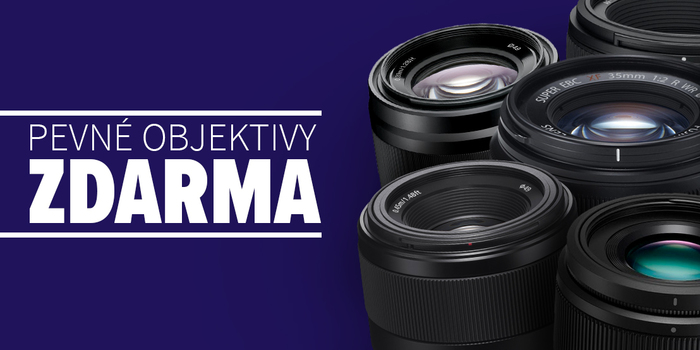 Získejte pevný objektiv zdarma k nákupu fotoaparátu. Akce platí jen do konce června.