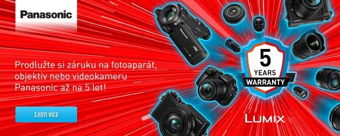 Získejte pětiletou záruku k vybraným produktům Panasonic do 31. 8.
