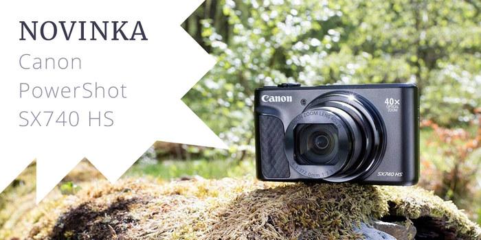 Canon představuje novinku PowerShot SX740 HS