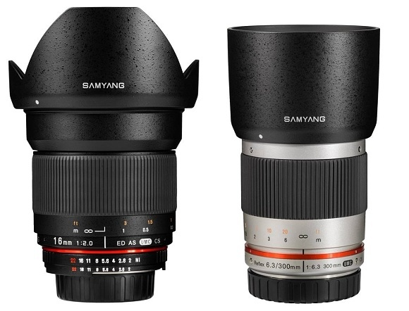 Samyang v létě představí objektivy 16mm f/2,0 a 300mm f/6,3