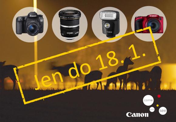 Zimní cashback Canon končí již tuto neděli 18. 1.