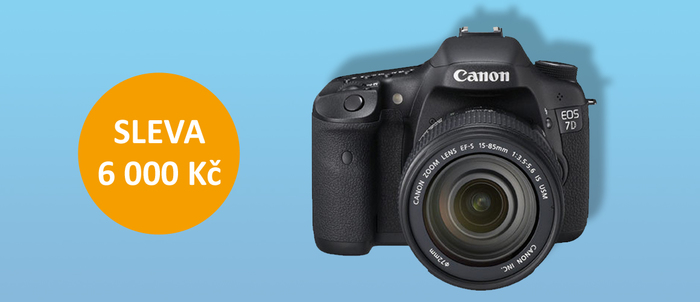 Zlevnili jsme Canon EOS 7D Mk II o 6 000 Kč
