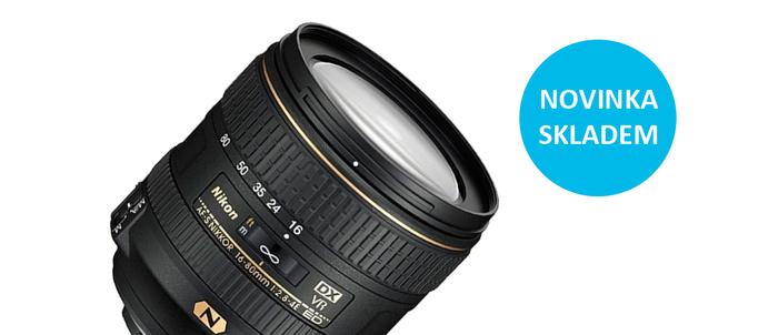 Očekávaný Nikon 16-80mm f/2,8-4,0E AF-S VR je již skladem