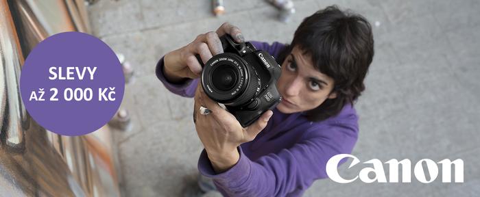 Zlevnili jsme fotoaparáty a videokamery Canon až o 2 000 Kč