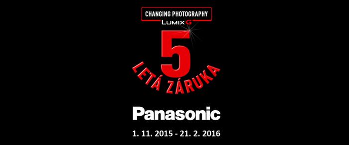 Prodloužená záruka 5 let na objektivy a fotoaparáty Panasonic G
