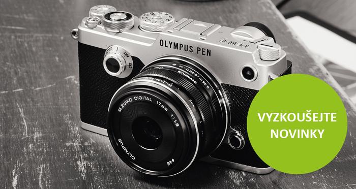 Přijďte si vyzkoušet Olympus PEN-F a další fotoaparáty a objektivy Olympus