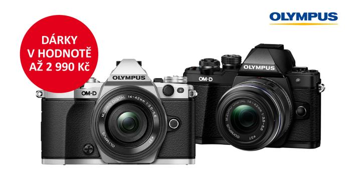 Získejte dárky v hodnotě až 2 990 Kč k Olympus OM-D E-M5 Mk II a E-M10 Mk II