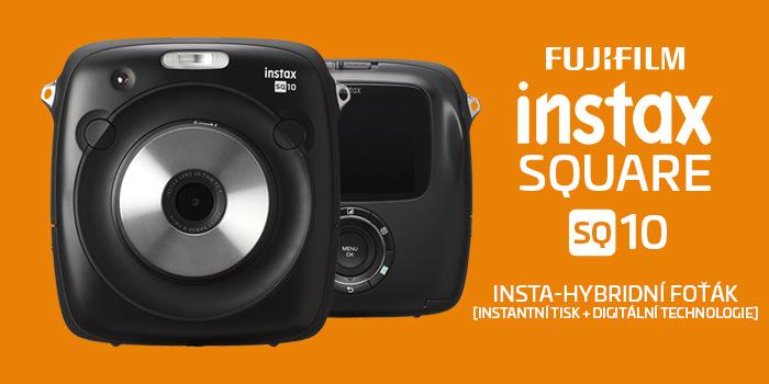 Fujifilm představil unikátní Instax Square SQ10 s možností instantního analogového i digitálního záznamu