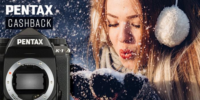 Cashback Pentax na vybrané objektivy a zrcadlovky K-1, KP, K-70 + skvělá vánoční akce!