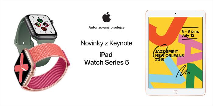 iPad (2019) a Apple Watch 5. generace: nově v ještě lepším provedení