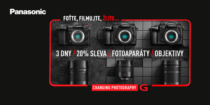 Objektivy a fotoaparáty Lumix G se slevou 20 %
