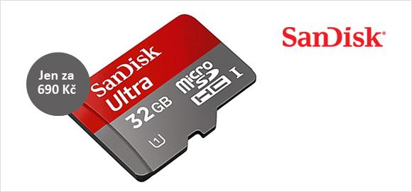 Karta SanDisk micro SDHC 32GB bude do konce listopadu levnější o 30%