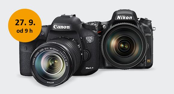 Již tuto sobotu. Otestujte si Canon 7D Mark II, Nikon D750 a další novinky