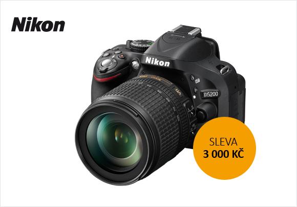 Sleva 3 000 Kč na Nikon D5200 + 18-105 mm VR a další slevy od Nikonu!