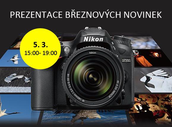 Přijďte zítra 5. 3. na prezentaci Nikon D7200 a dalších novinek