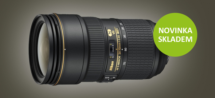 Nový profesionální Nikon 24-70mm f/2,8 E VR je již skladem