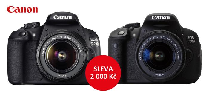Zlevnili jsme  vybrané sety Canon EOS 1200D a 700D o 2 000 Kč