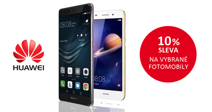 Získejte okamžitou slevu 10 % na vybrané fotomobily Huawei