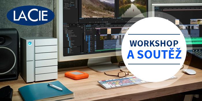Přijďte na workshop Střih 4K videozáznamu a zpracování fotografií s úložišti LaCie