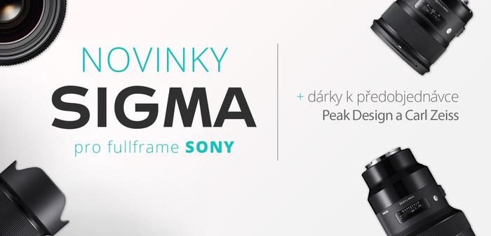 Předobjednejte si novinky Sigma pro Sony fullframe a získejte dárky