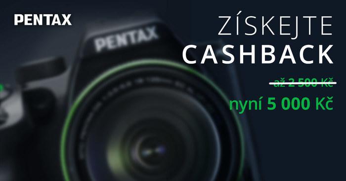Dvojitý cashback Pentax