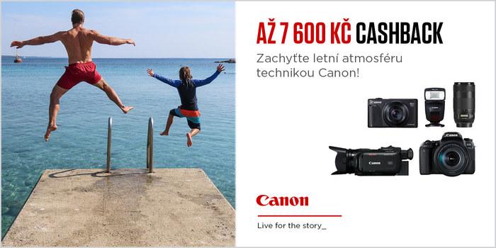Připravte se na léto s technikou Canon a my vám za nákup vrátíme až 7 600 Kč