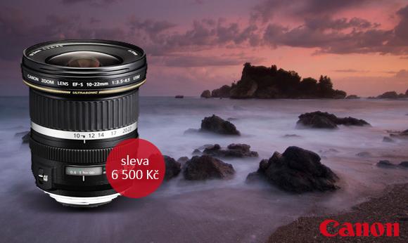 Sleva až 6 500 Kč na objektivy Canon a slevy kompaktních fotoaparátů