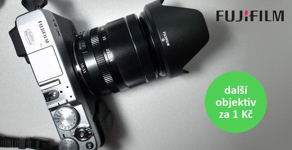 Druhý objektiv k retro Fuji FinePix X-Pro 1 a X-E1 jen za 1 Kč