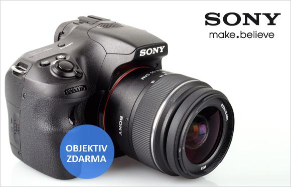 K Sony A65 dostanete 50mm objektiv zdarma