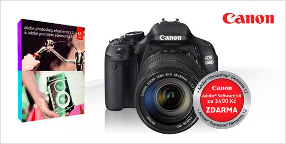 Photoshop Elements 12 zdarma také k zrcadlovce Canon EOS 600D