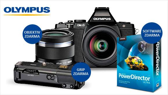 K Olympusu E-M5 dostanete grip a portrétní objektiv ZDARMA