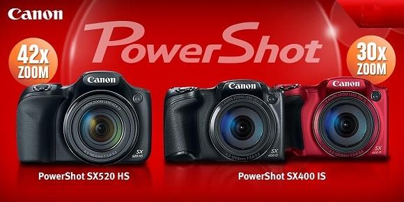 Canon PowerShot SX520 HS a Canon PowerShot SX400 IS - dva nové ultrazoomy