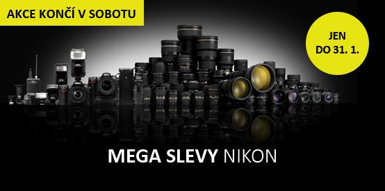 Mega slevy Nikon končí již tuto sobotu