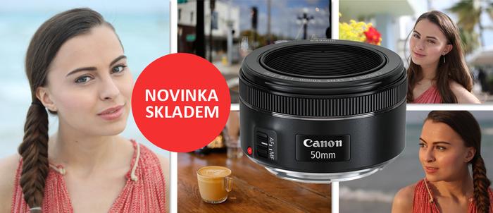 Nový Canon 50mm f/1,8 STM ode dneška skladem