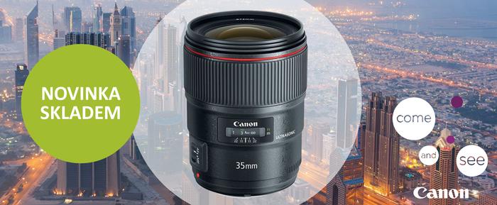 Máme nový Canon EF 35mm f/1,4 L II, buďte první, kdo si ho odnese domů