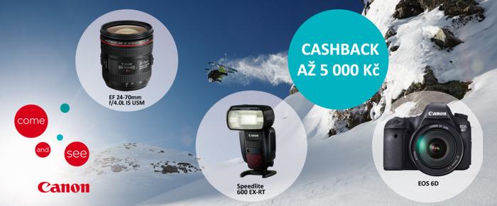 Využijte poslední týden cashback Canon