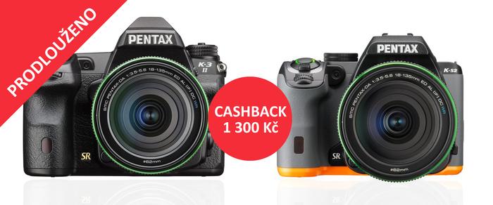 Prodlužujeme Cashback na Pentax K-3 II a K-S2