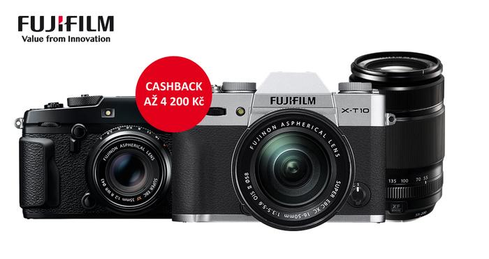 Využijte Cashback Fujifilm až 4 200 Kč na fotoaparáty a objektivy