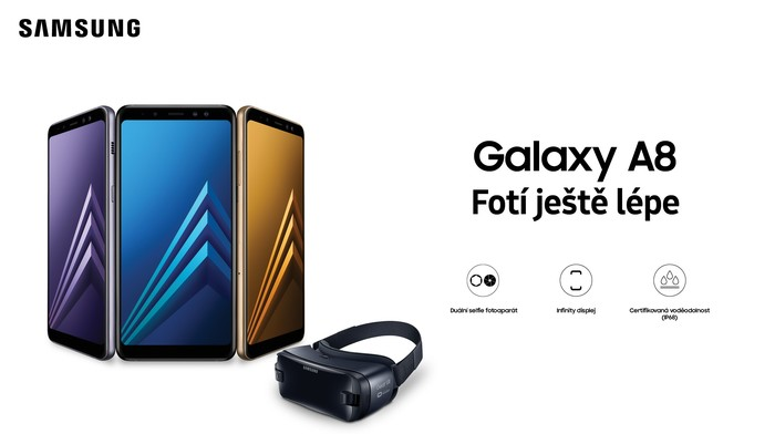 Samsung Gear VR zdarma k předobjednávce Galaxy A8