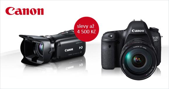 Slevy až 4500 Kč na fotoaparáty a kamery Canon