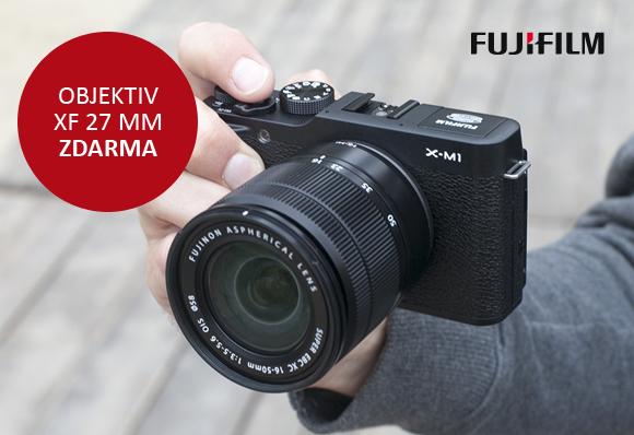 Objektiv XF 27mm f 2,8 zdarma k Fujifilm X-M1+XC 16-50 mm!